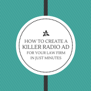 Killer radio ad for your law firm